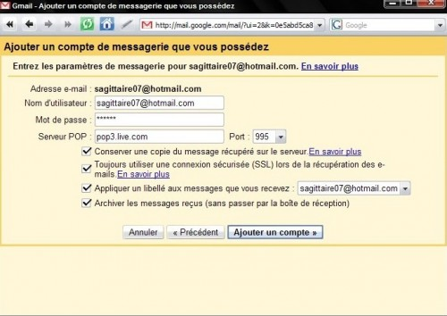 configuration-hotmail