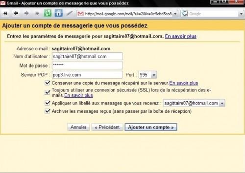 configuration-hotmail