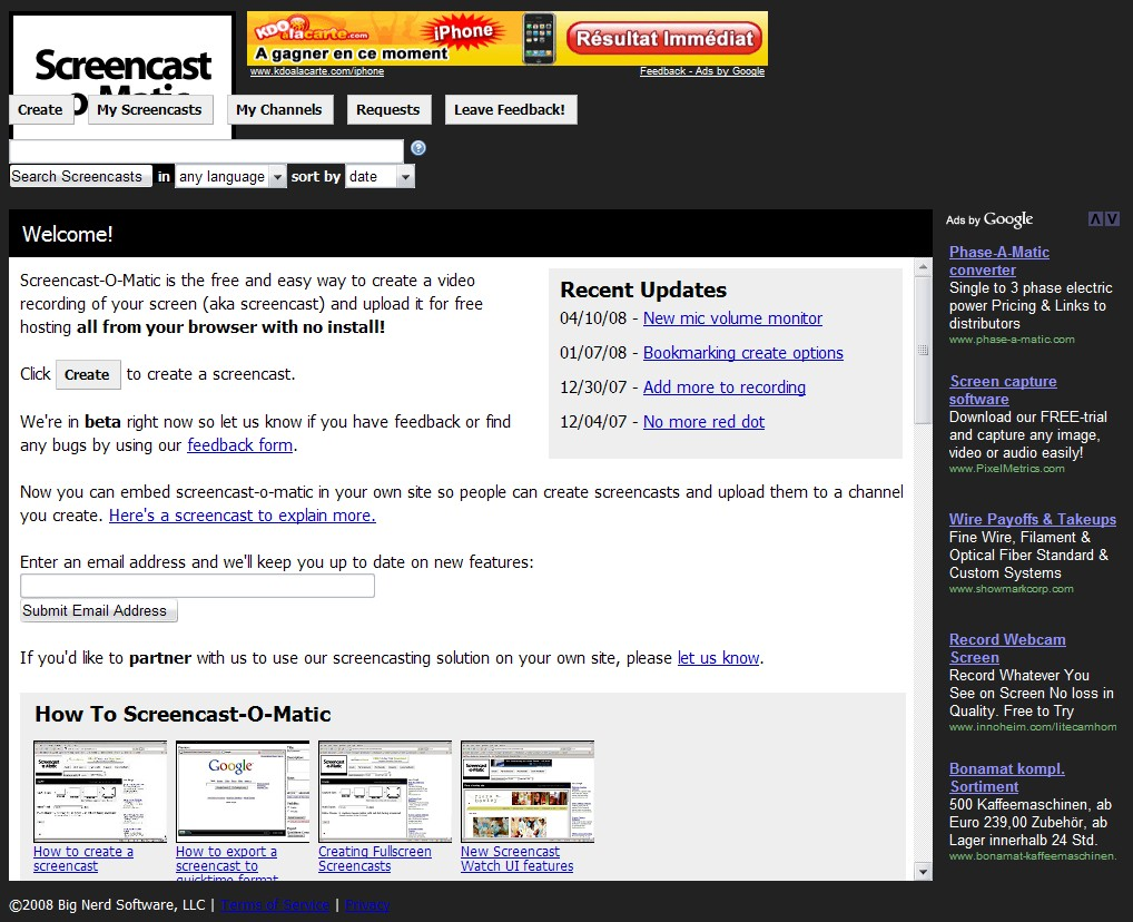 5 services en ligne pour r aliser vos screencasts autour du web - Couper un fichier audio en ligne ...