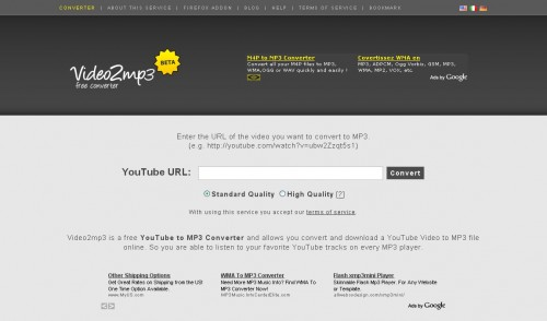 video2mp3 500x294 Video2mp3, convertir et télécharger gratuitement des vidéos YouTube en MP3