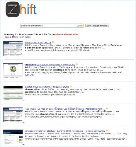 zhift-recherche