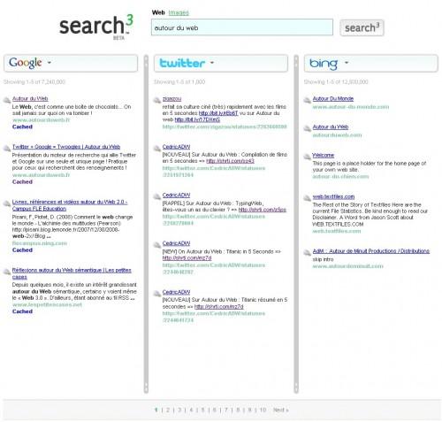 Search3 recherche