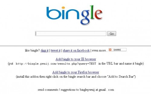 bingle 500x311 Google + Bing = Bingle !