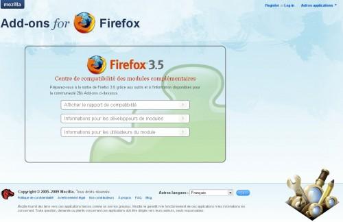 Centre compatibilité Firefox