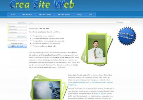 Crea site Web