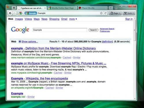Firefox 4.0 mockup (TabsTop)-(LocBarSearch)