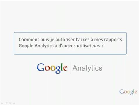 Gerer Google analytics