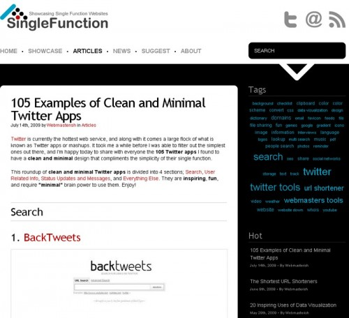 SingleFunction 500x456 105 applications en ligne pour Twitter