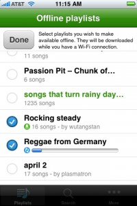 Spotify offline sync