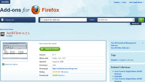 Arch View Firefox