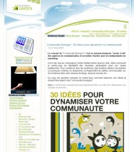 Idees dynamiser communaute
