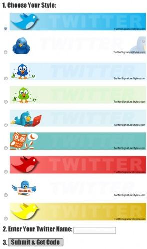 Signature Twitter