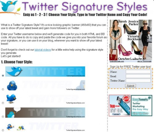 Signature Twitter styles