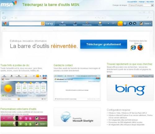 Toolbar Bing