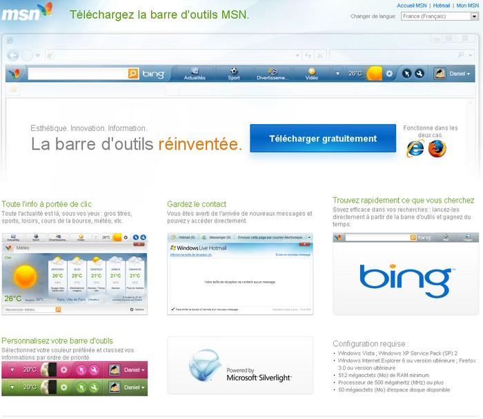 Install Microsoft Bing Toolbar
