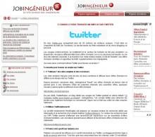 Trouver emploi sur Twitter