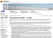 Utiliser un blog