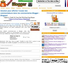 Afficher avatar blogger