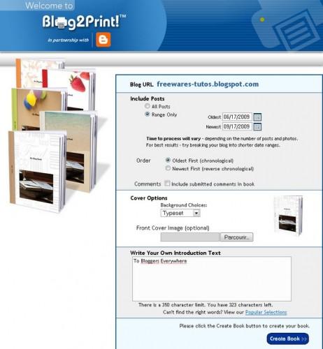 Blog2print blogger