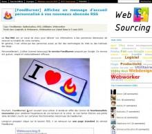 FeedBurner message personnalise
