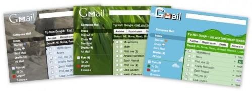 Gmail nouveaux themes