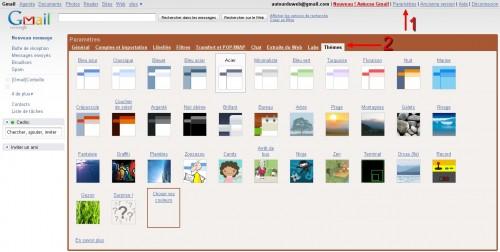 Parametres Themes Gmail