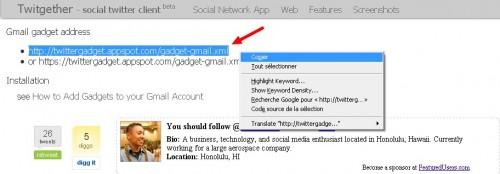 Twitgether gmail