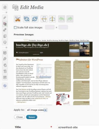Wordpress 2.9 image
