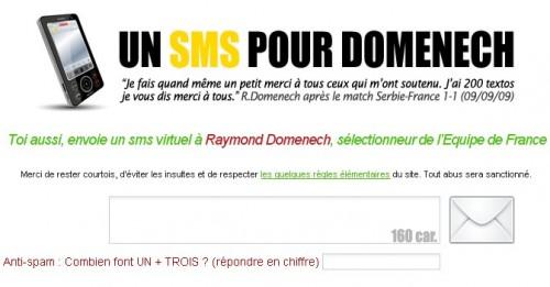 sms raymond domenech