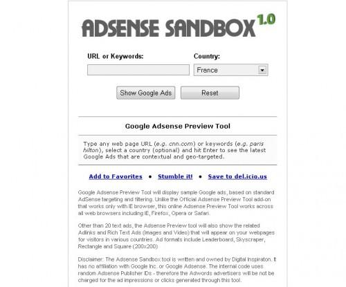 adsense-sandbox
