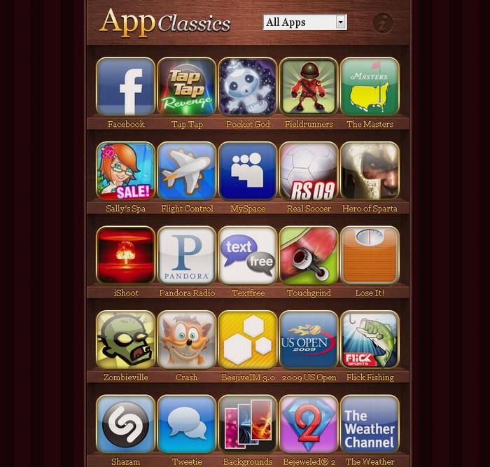 appclassics r pertoire des meilleures applications iphone autour du web. Black Bedroom Furniture Sets. Home Design Ideas