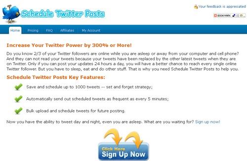 schedule twitter posts