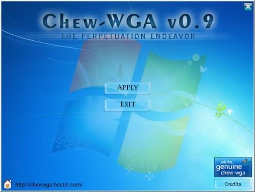 chewwga 500x376 Télécharger 2 crack pour Windows 7 : RemoveWAT et Chew WGA
