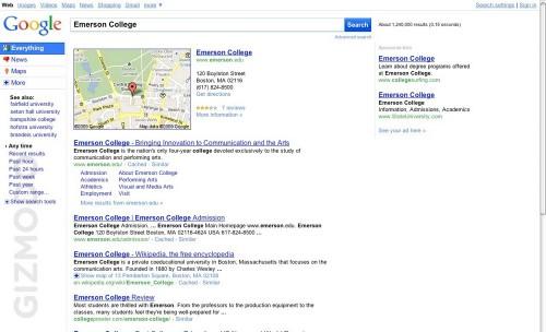 google-interface