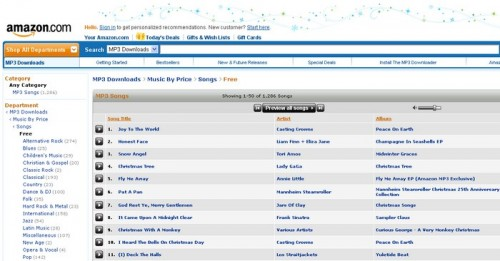 amazon musique gratuite 500x261 15 astuces pour télécharger de la musique gratuitement et légalement