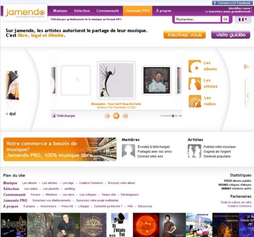 jamendo 500x466 15 astuces pour télécharger de la musique gratuitement et légalement