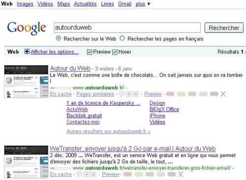 search preview 8 Add ons Firefox pour améliorer vos recherches sur Google