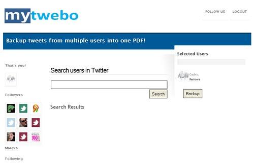 mytwebo 3 outils pour créer des sauvegardes de votre Twitter