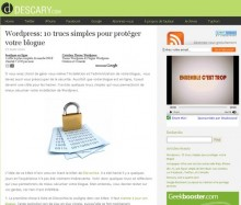proteger blog wordpress