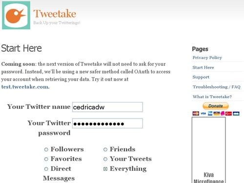 tweetake 3 outils pour créer des sauvegardes de votre Twitter