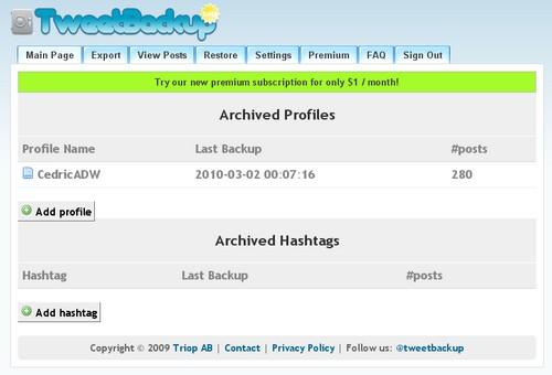 tweetbackup 3 outils pour créer des sauvegardes de votre Twitter