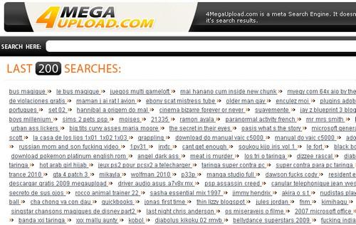 4megaupload MegaUpload : 15 moteurs de recherche pour trouver des liens
