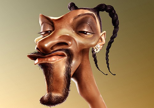 dans caricature caricature-snoop-dog