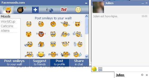 facemoods emoticon Comment ajouter des emoticons sur Facebook