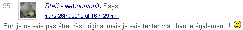 gagnant commentaire