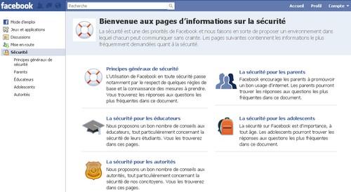 securite facebook