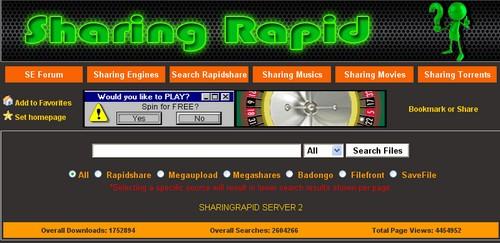 sharing rapid MegaUpload : 15 moteurs de recherche pour trouver des liens