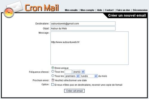 cron mail
