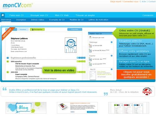free downlad  6 sites pour cr u00e9er votre cv en ligne