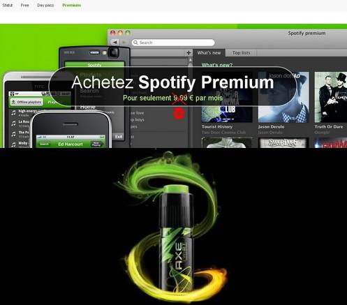 spotify premium axe